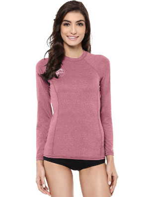 woman's long sleeve rash guard